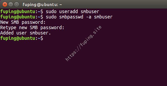 添加smb用户